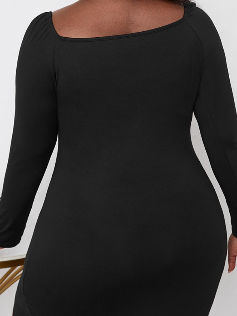 LW SXY Plus Size Bandage Design Bodycon Dress