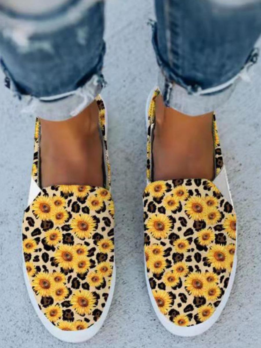 LW Sunflower Print Flats