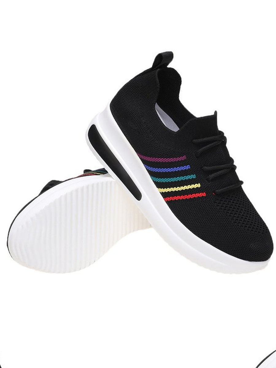 LW Striped Mesh Front Sneakers