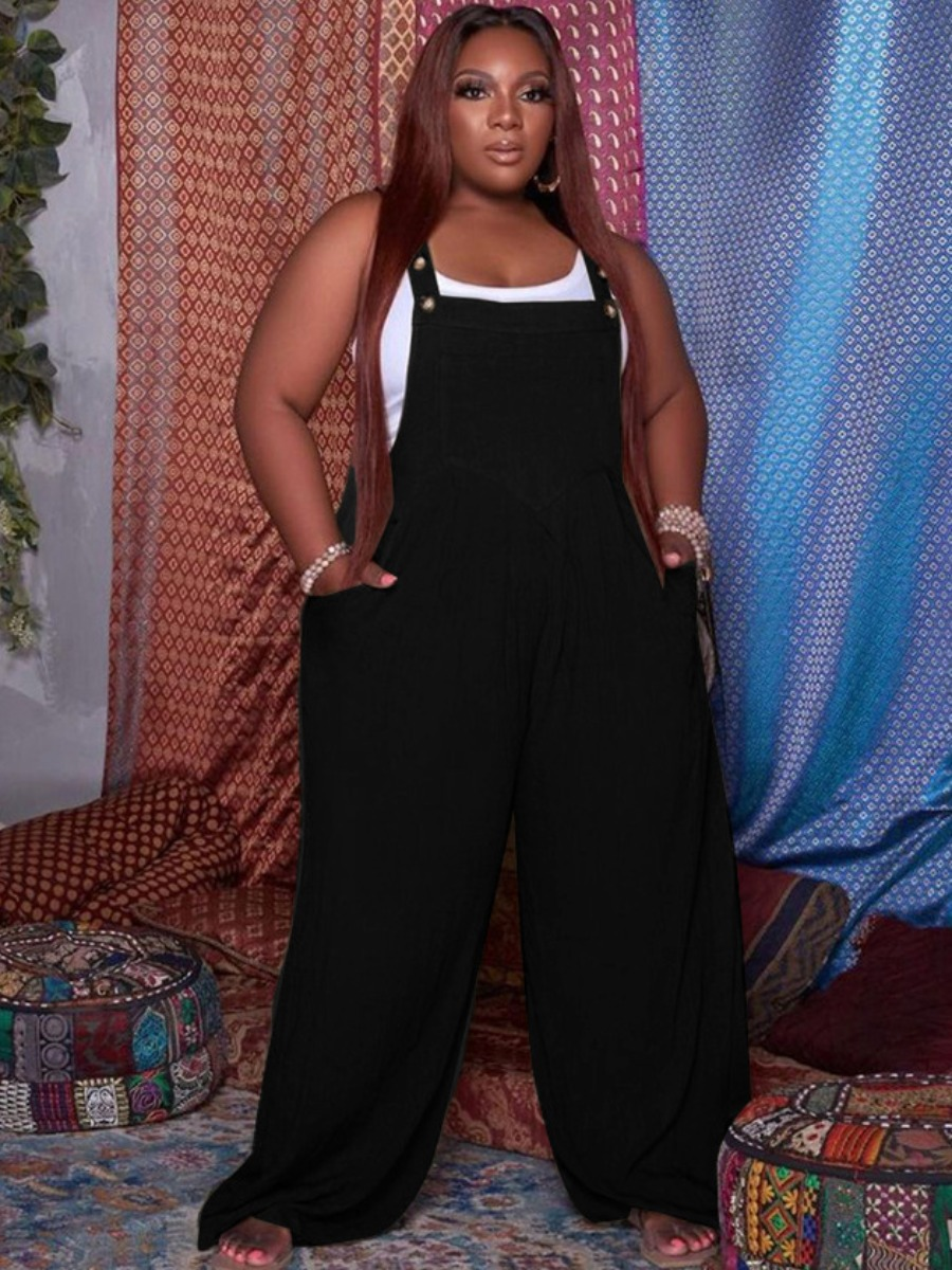 LW Plus Size Wide Leg Overall Jumpsuit