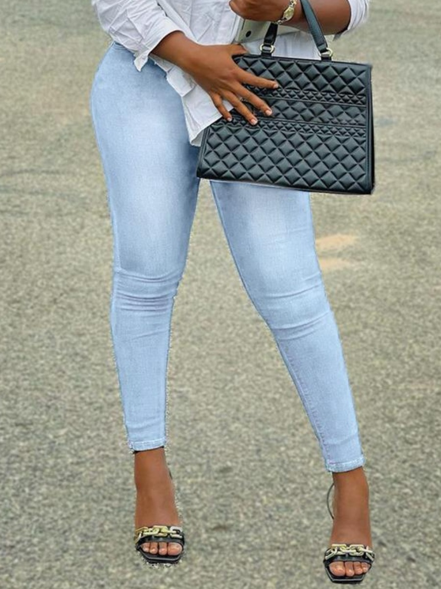 LW BASICS High-waisted Solid Jeans
