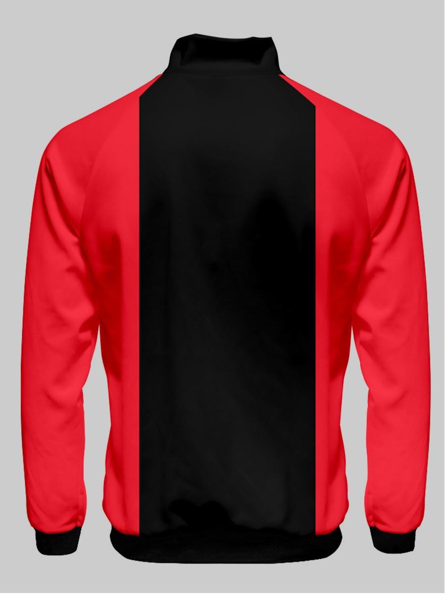 Lovely Men Color-lump Zipper Design Jacket