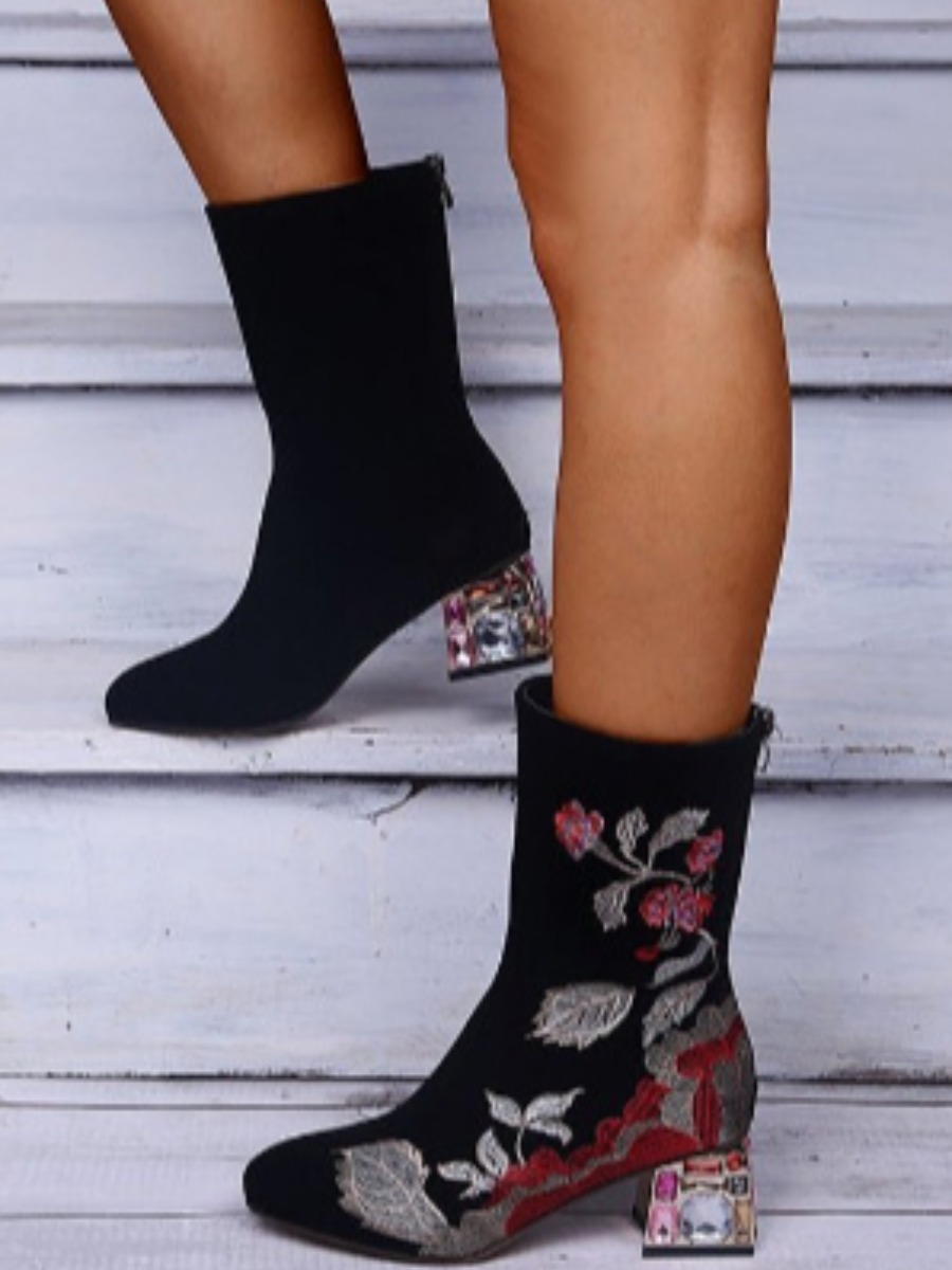 LW Floral Decoration Booties