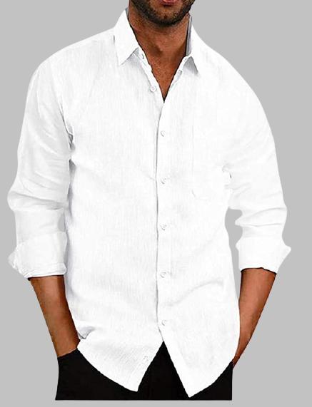 LW Men Turndown Collar Button Design Shirt