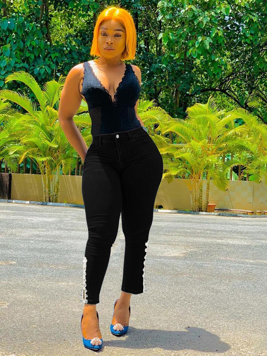 LW BASICS High-waisted Slit Jeans