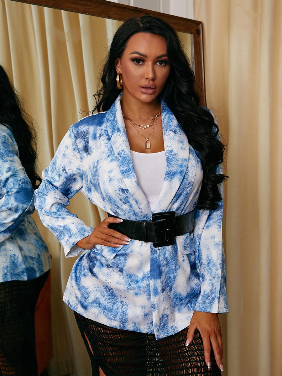 LW Tie-dye Pocket Design Blazer