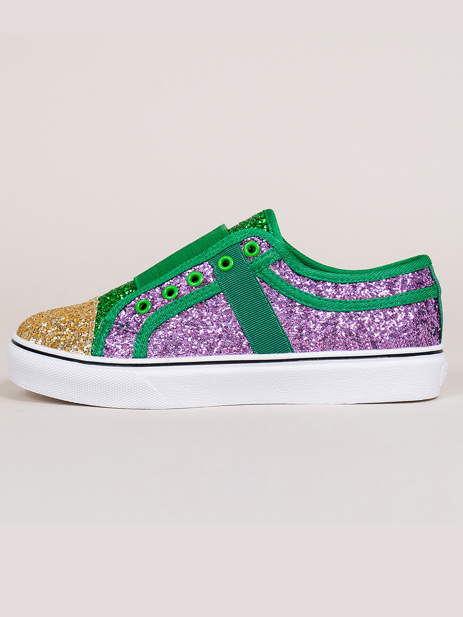 LW Sequined Slip On Flats