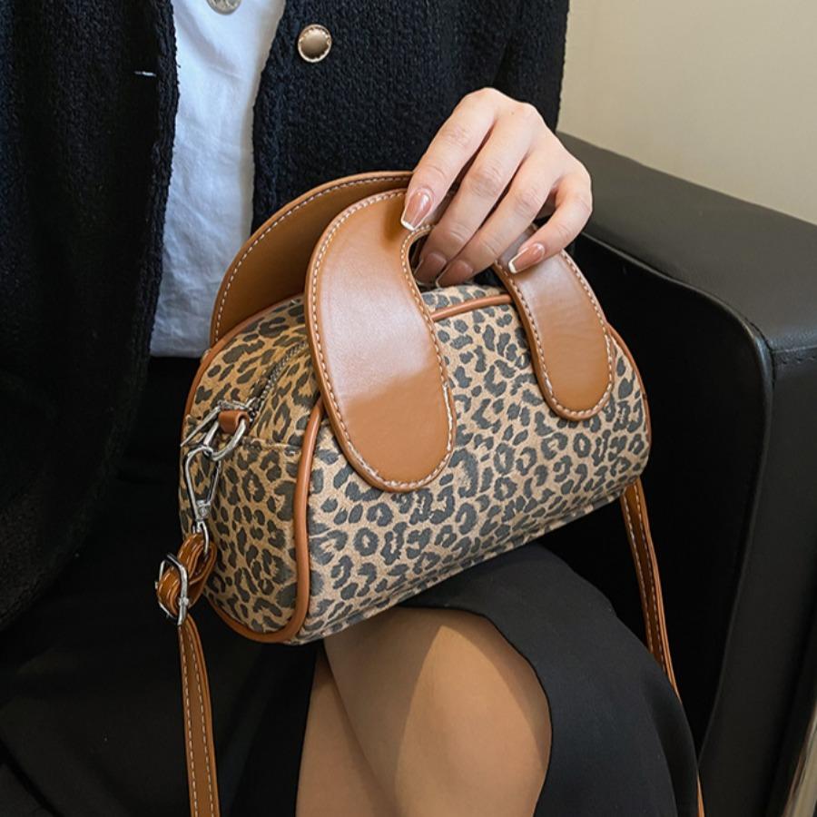 Lovely Leopard Print Messenger Bag