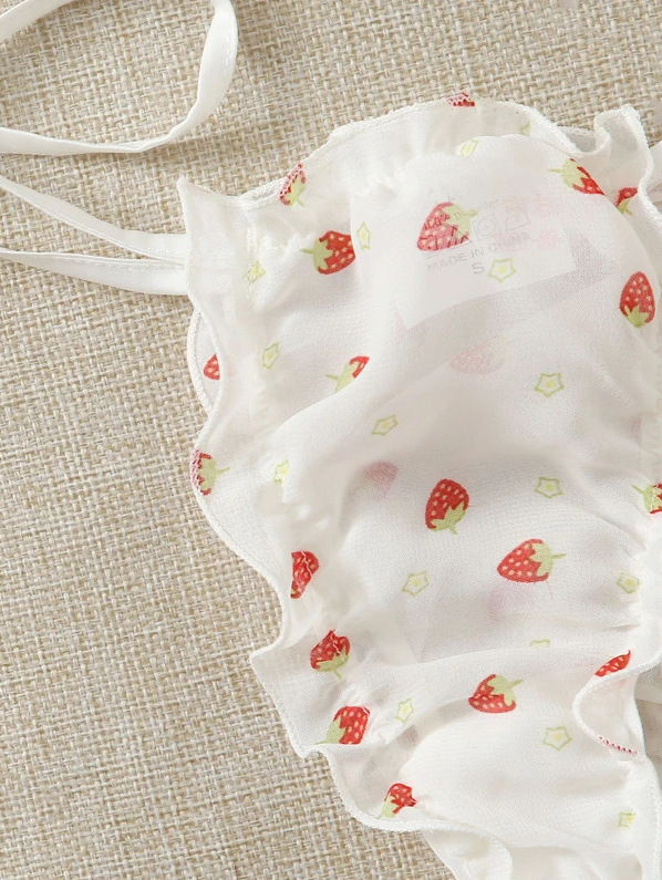 Lovely Fruit Print Bandage Design Secret Set