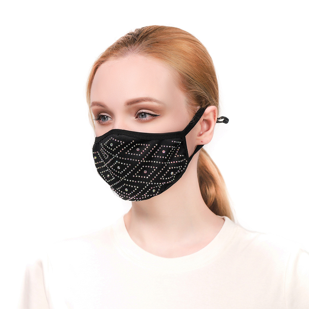 LW COTTON Geometric Sequined Face Mask