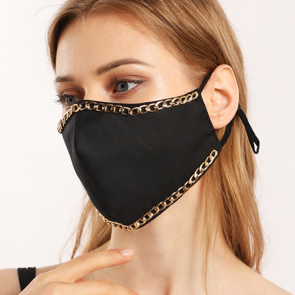 LW COTTON Chain Patchwork Face Mask