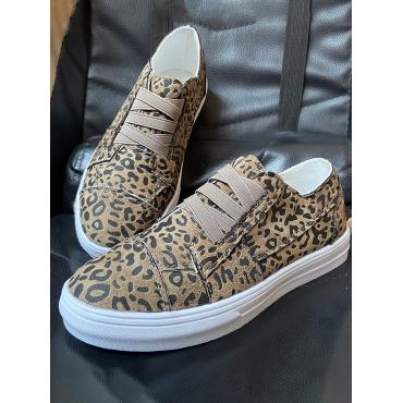 LW SXY Leopard Print Slip On Flats