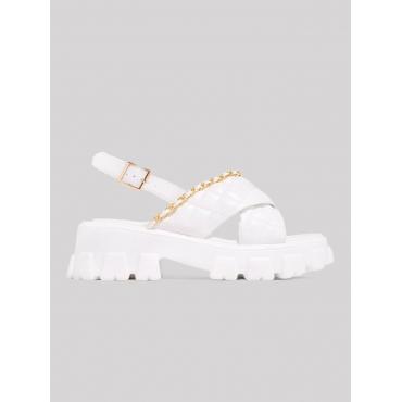 LW Chain Decoration Platform Shoes