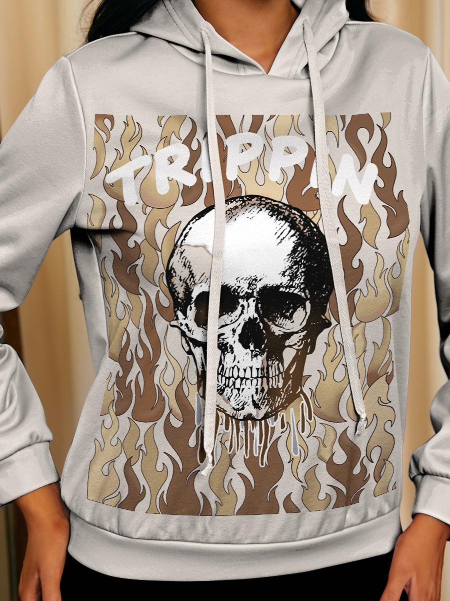LW BASICS Letter Skull Print Pants Set