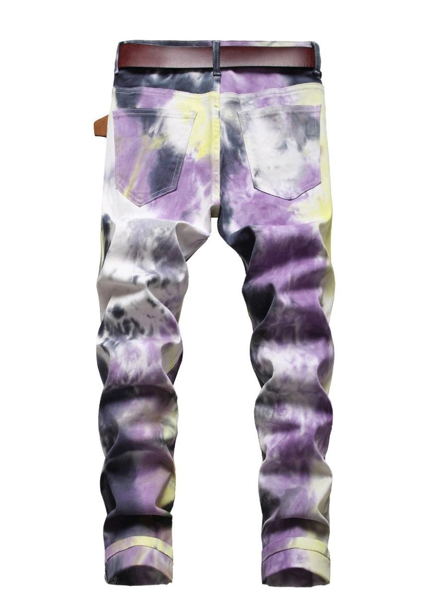 LW Men Casual Tie Dye Denim Jeans