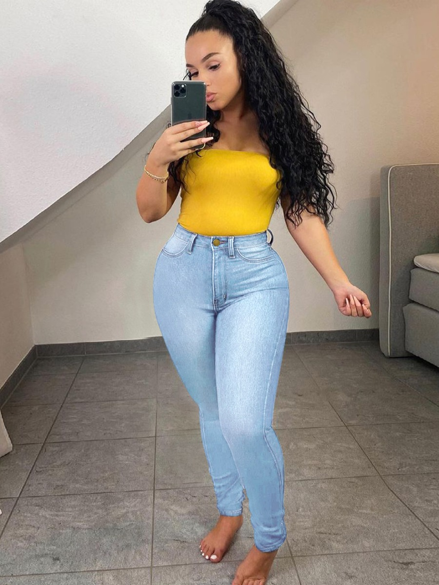 LW Plus Size High-waisted Skinny Jeans