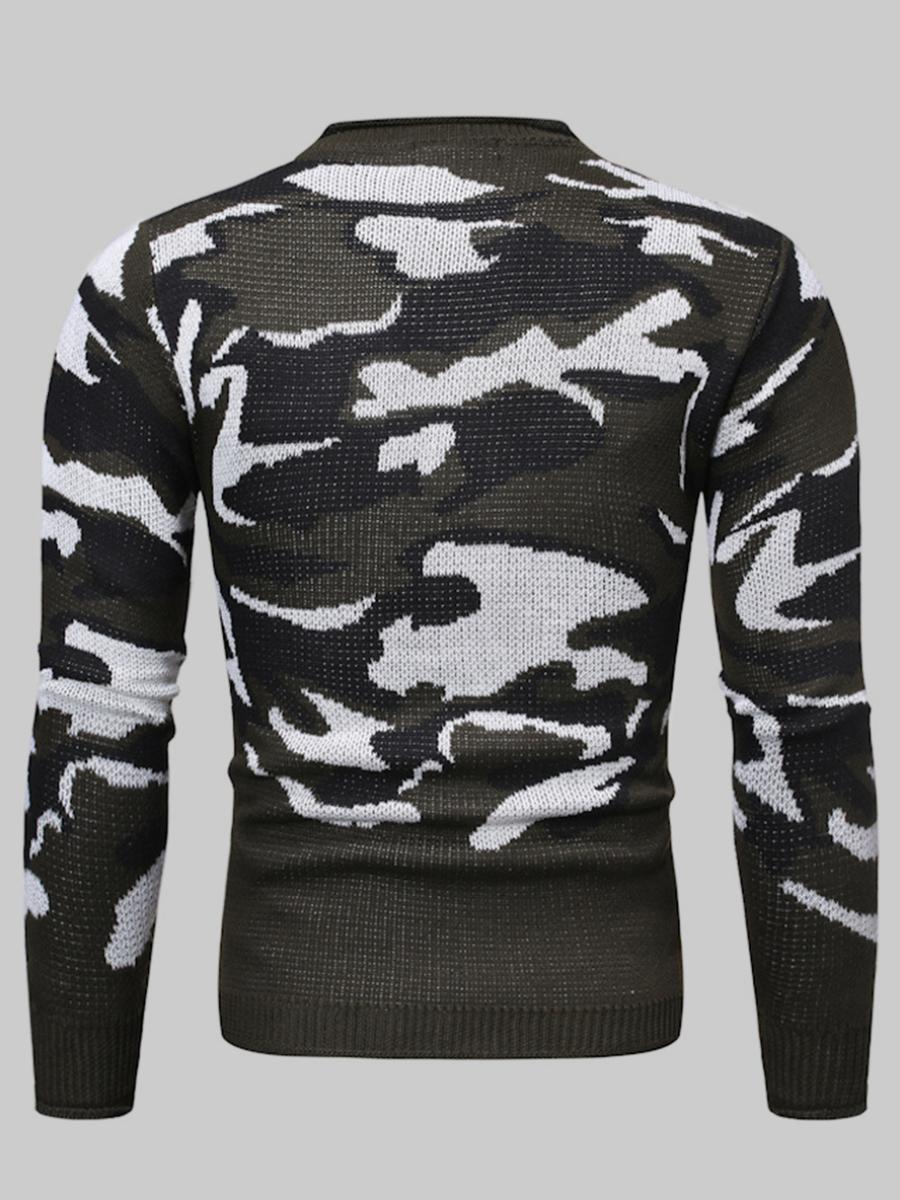 LW Men Camo Print Sweaters