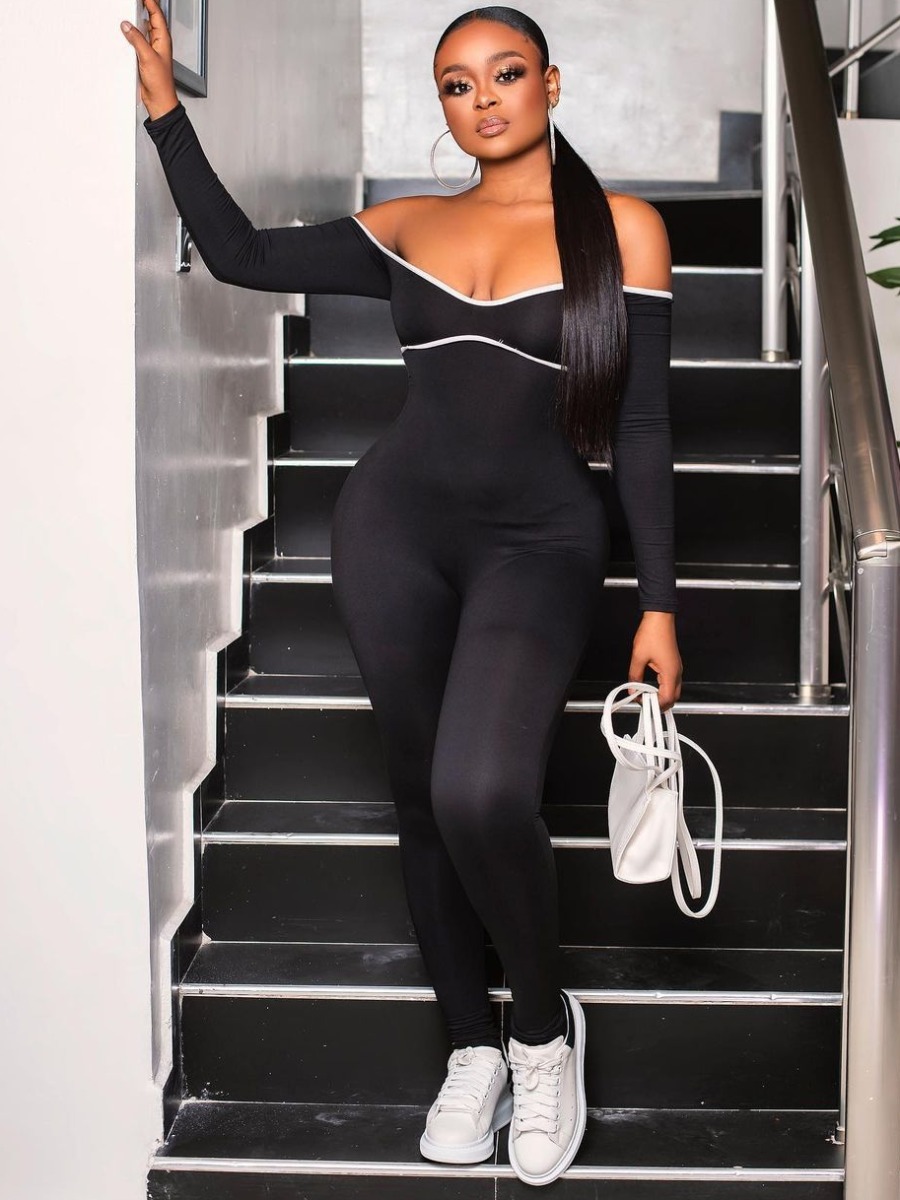 LW SXY Hollow Out Tie Back Jumpsuit