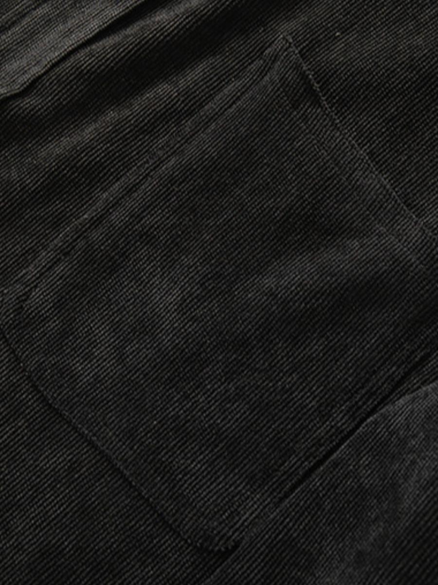 LW COTTON Men Pocket Design Snap Button Jacket