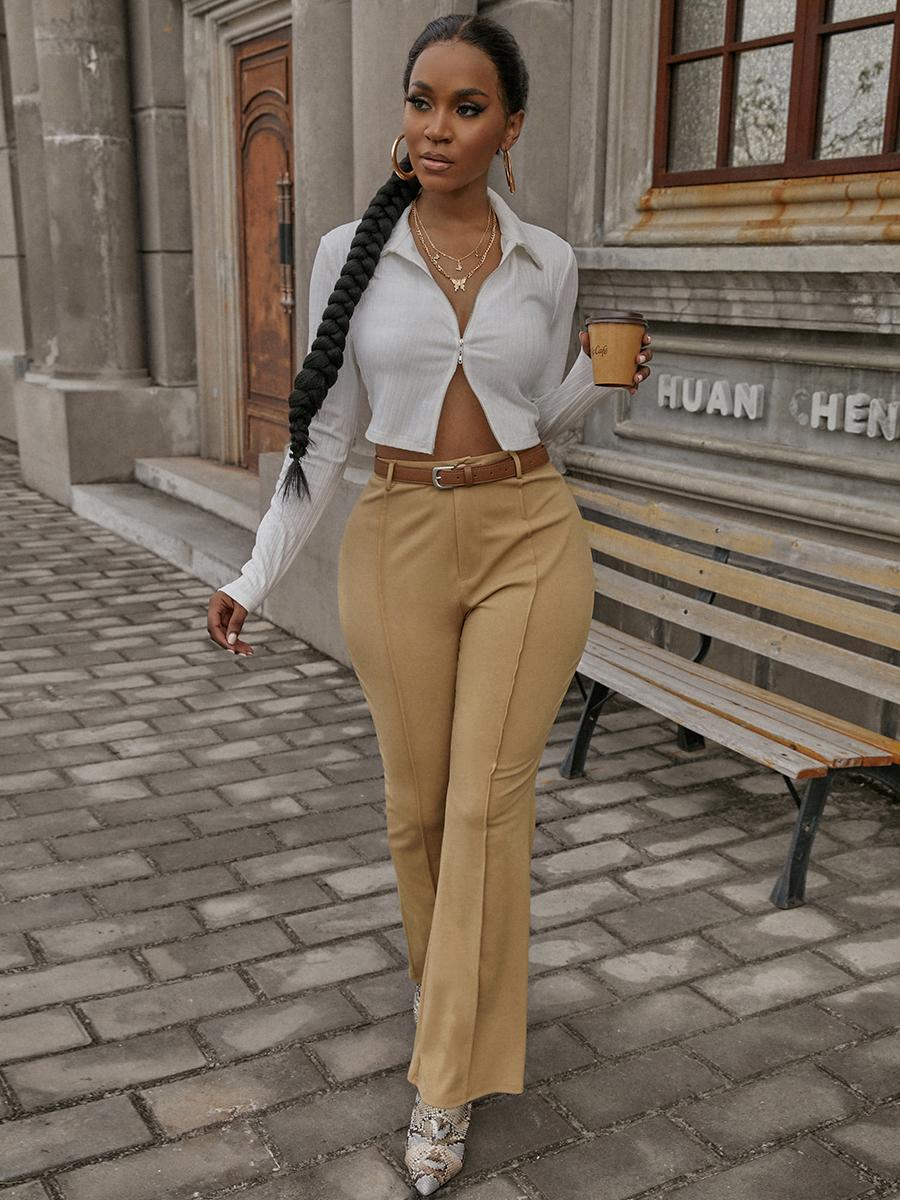 LW COTTON Rib Knit Zipper Design Jacket
