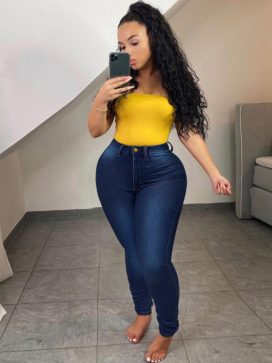 LW Plus Size Slim Fit Solid Jeans